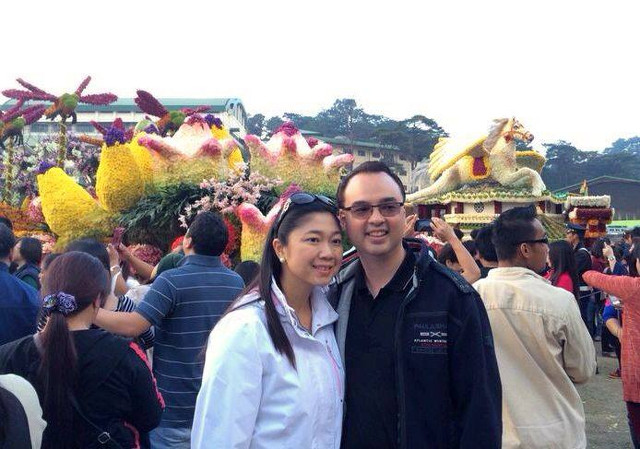 ANNIVERSARY. Alan Cayetano and wife Lani celebrate their wedding anniversary in Baguio. Photo from Alan Cayetano's Facebook page