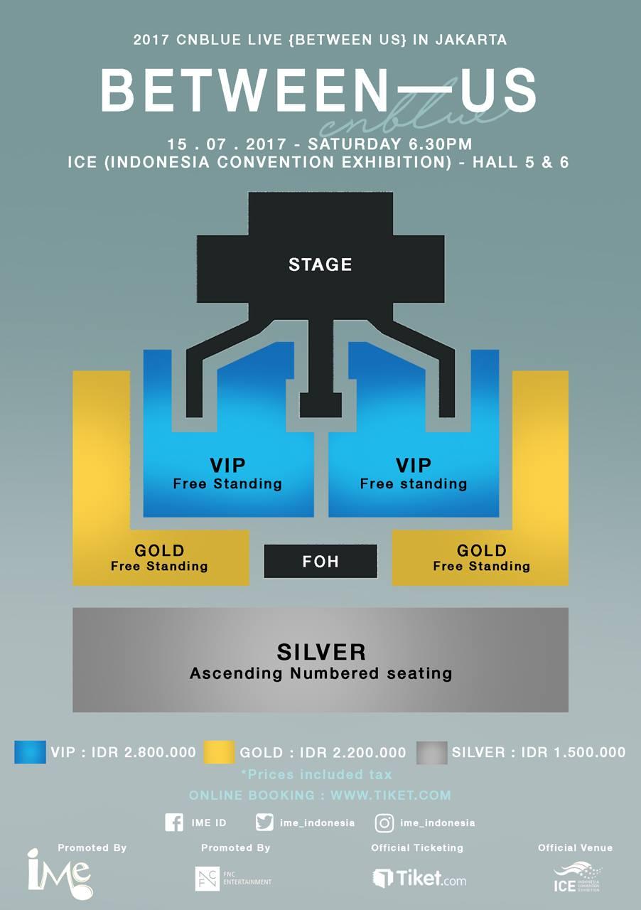 Denah konser CNBLUE di Indonesia 2017. Foto dari Facebook/IME Indonesia