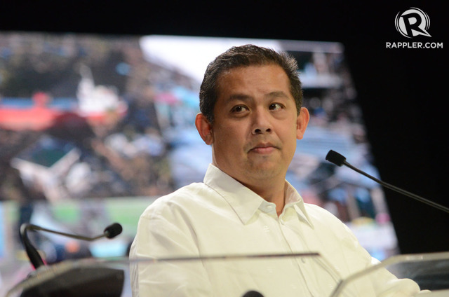 SPEAKERSHIP BID? Martin Romualdez, running for Leyte representative, is introduced as the next House Speaker by Davao City mayor Sara Duterte. File photo by Alecs Ongcal/Rappler