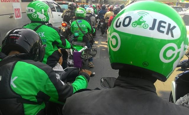 PENGEMUDI GO-JEK. Foto oleh Famega Syavira/Rappler