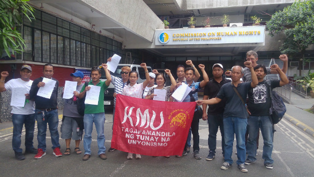 END TO ATTACKS. Kilusang Mayo Uno asks the Commission on Human Rights to probe red-tagging and harassment against progressive groups. Photo from the Center for Trade Union and Human Rights