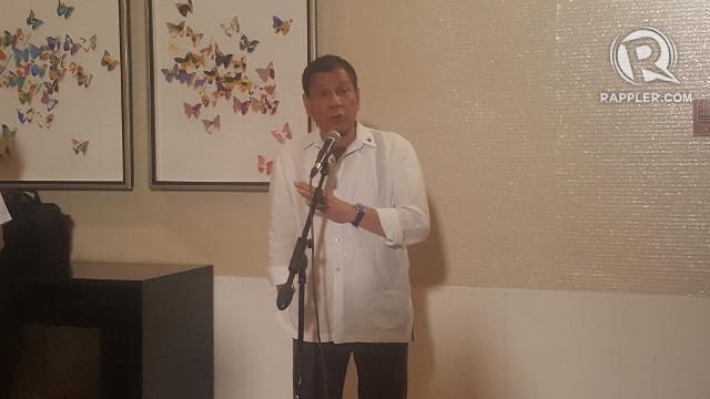 BAN REMAINS. President Rodrigo Duterte takes questions from the media on November 21, 2017. Photo by Pia Ranada/Rappler