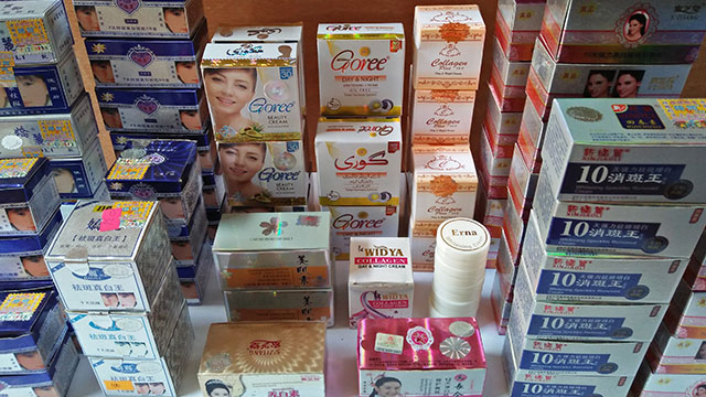 MERCURY-LACED. Many whitening products for sale in certain Mindanao cities were found to be contaminated with high levels of mercury./ Photo from EcoWaste Coalition