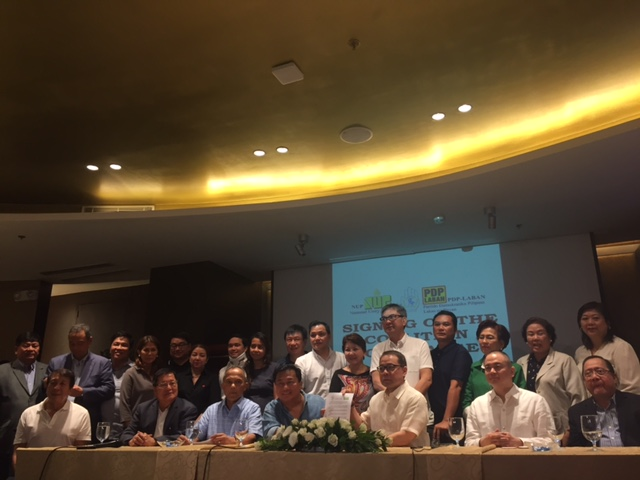 NEW ALLIES. The National Unity Party joins forces with the incoming ruling party, PDP-Laban. Photo by Patty Pasion / Rappler