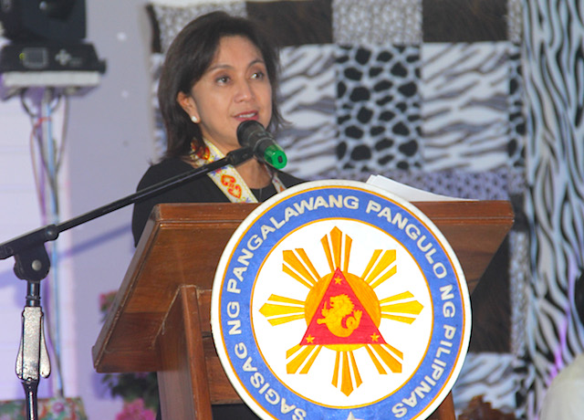 OFFENDED. A file photo of Vice President Leni Robredo. Rappler photo