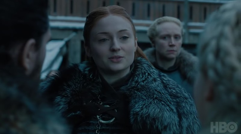 SANSA MEETS DANY. A clip from the final 'Game of Thrones' season is finally out. Screenshot from the HBO trailer