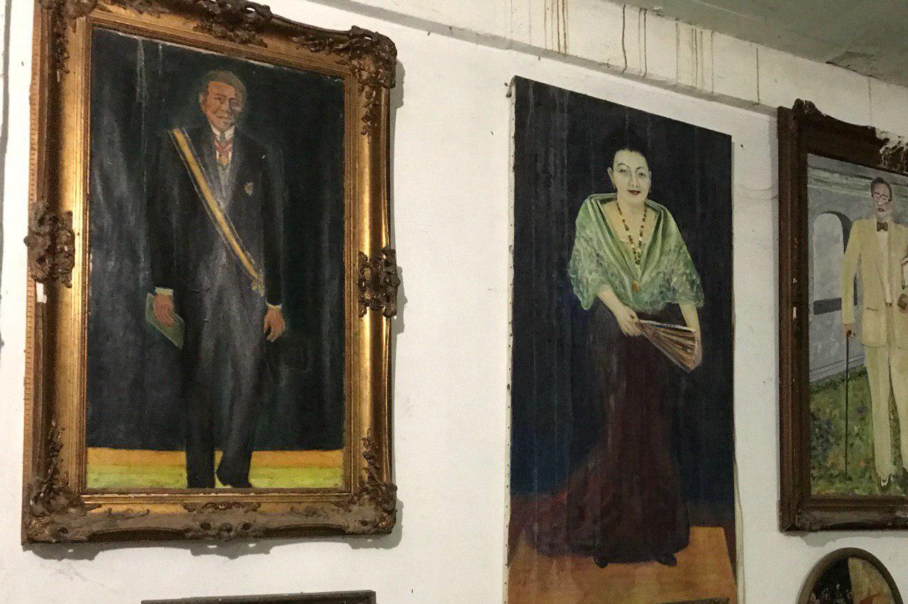 PORTRAITS. Ambassador Rosario Carino's self-portrait (left). Photo by Aika Rey/Rappler