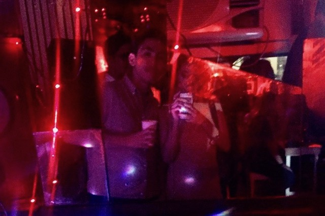 IN A GAY BAR. The author visits a gay bar in Quezon City with his friends. Photo courtesy of the author