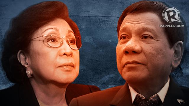 SHOWDOWN. President Rodrigo Duterte and Ombudsman Conchita Carpio Morales are headed for a showdown over the order to suspend the Overall Deputy Ombudsman.