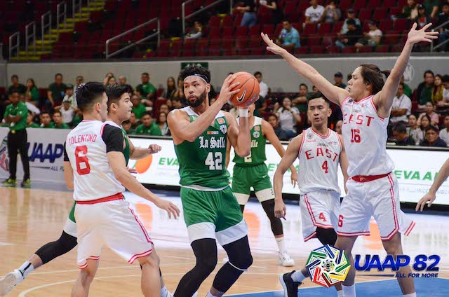 TOWERING. James Laput gives the Green Archers a massive heigh advantage. Photo release