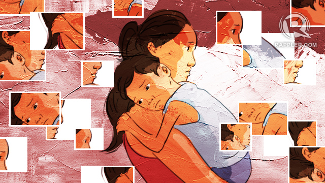 SINGLE MOMS. The Federation of Solo Parents estimates that there are around 20 million Filipino kids being raised by single parents.