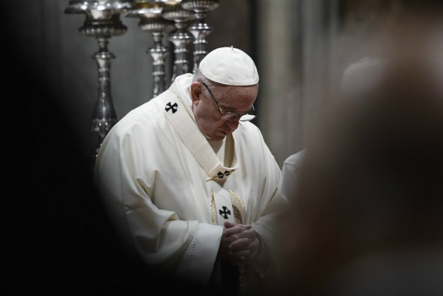 JUSTICE. Pope Francis vows to never again ignore allegations of abuse. File photo by Filippo Monteforte/AFP