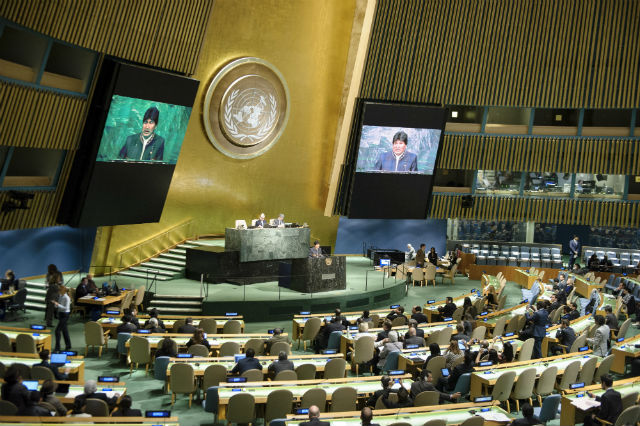 HIGHER RATING. Filipinos' trust in the United Nations rises by 8 percentage points based on the latest Pulse Asia survey. UN file photo