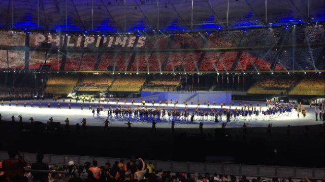 DISAPPOINTING FINISH. The Philippine contingent collects only 24 gold medals, the lowest output since 1999. Photo by Jane Bracher/Rappler