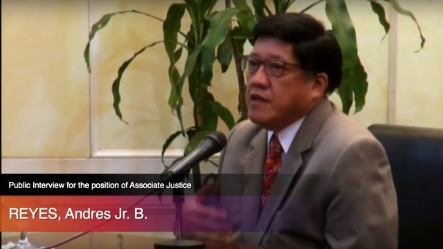 NEW SC JUSTICE. Court of Appeals Presiding Justice Andres Reyes Jr is interviewed as a candidate for the post of Supreme Court associate justice.
