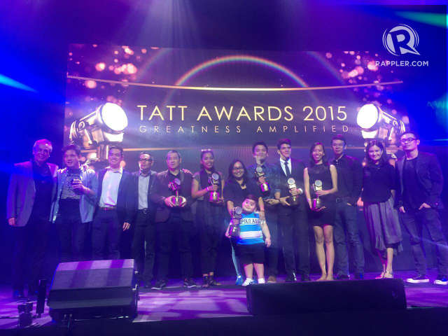 TATT AWARDS 2015. The winners with the members of the Tatt Council. Photo  by Vernise L.Tantuco/Rappler