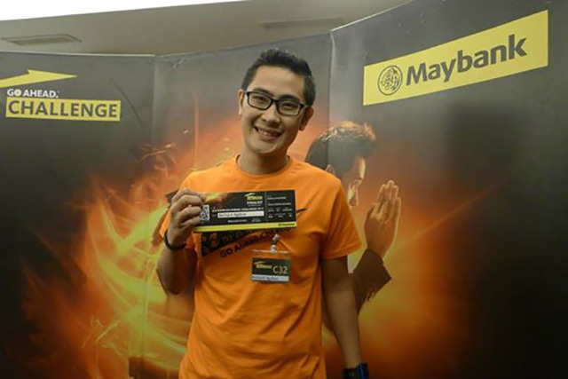 LEARNING. Richard Ocampo joins the Maybank Go Ahead Challenge because he could not afford to lose a learning experience, u201csomething that is innate in many of us u2013 millennials.u201d Photo from Maybank Philippines Facebook page