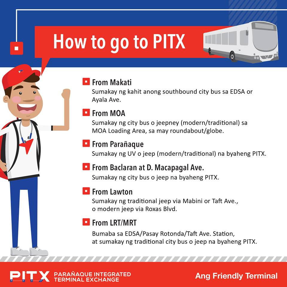 TERMINAL. This image shows how to go to PITX. Photo from PITX