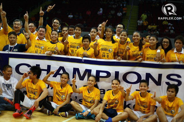 CHAMPS AGAIN. NU reigned supreme in women's basketball. File photo by Josh Albelda/Rappler