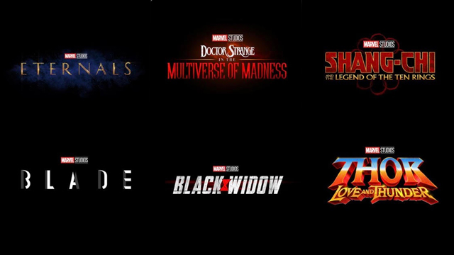 PHASE 4. Marvel Studios announces its lineup until 2021. Images from Marvel Studios