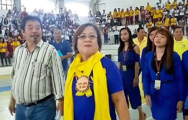 UPHOLD THE LAW. Former justice secretary Leila de Lima at a forum with students at Cagayan State University on January 20, 2016. Photo by Raymon Dullana/Rappler