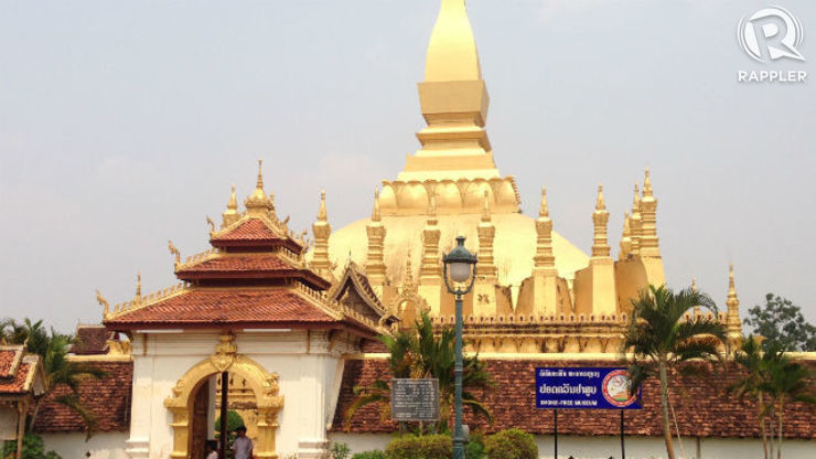 PHA THAT LUANG. This gold-covered stupa is the national symbol of Laos