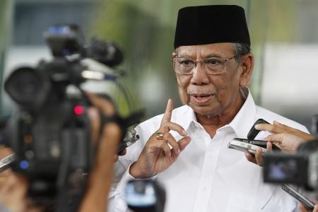 KH Hasyim Muzadi. Foto diambil pada 7 Juni 2013. Foto oleh Widodo S. Jusuf/ANTARA
