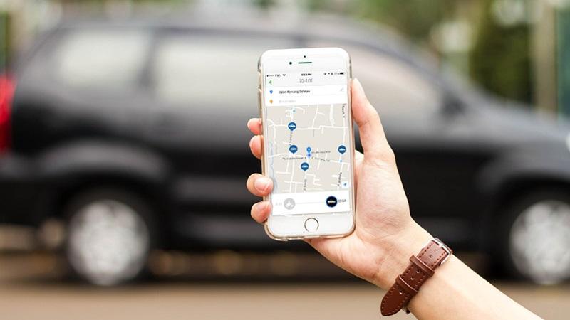 Tampilan aplikasi Go-Car. Foto dari Tech in Asia