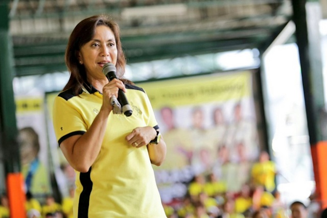 STRONG ADVOCACY. Administration candidate Leni Robredo is the most vocal among the vice presidential candidates on the issue of martial law. File photo from Leni Robredo's Twitter account