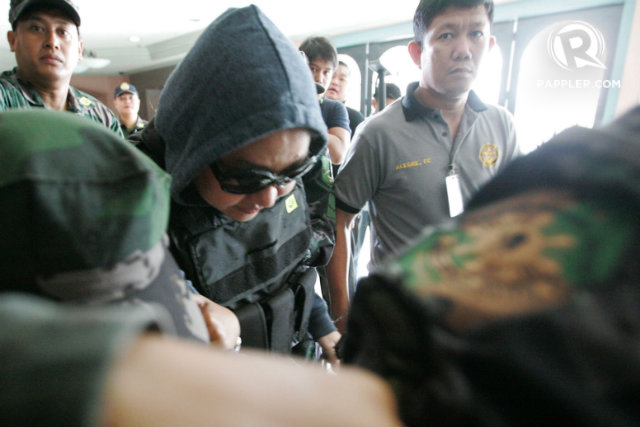 MOVED. Anti-graft court Sandiganbayan orders Janet Lim Napoles' transfer from Fort Sto Domingo in Laguna to Camp Bagong Diwa in Taguig in 2014. File photo by Ben Nabong/Rappler