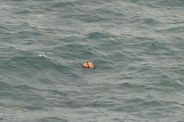 Items resembling an emergency slide, plane door and other objects were spotted during an aerial search on December 30 for the missing AirAsia plane, according to information from the flight on which AFP was aboard. Photo by Bay Ismoyo/AFP
