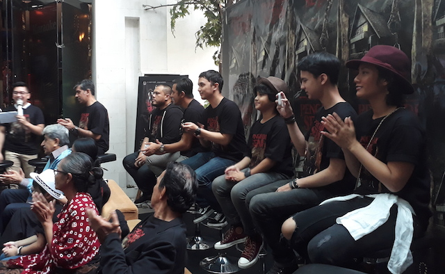 'PENGABDI SETAN'. Para pemain dan kru dari film 'Pengabdi Setan' dalam konferensi pers yang bertempat di Epicentrum XXI, Kuningan, Jakarta Selatan, pada Rabu, 21 September 2017. Foto oleh Valerie Dante/Rappler