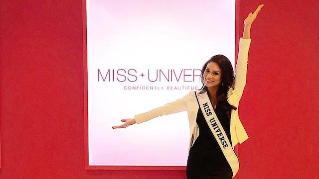 SINGGAH DI BALI. Miss Universe 2015 Pia Wurtzbach singgah di Bali sebelum berangkat ke Filipina. Foto dari Instagram/Miss Universe