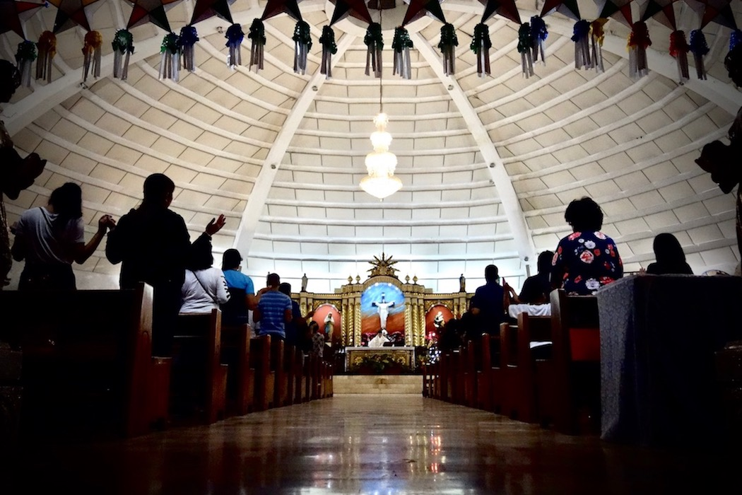 HOLY GROUND. A Mass is held at the Saint Joseph Chapel inside Camp Crame. All photos by Rambo Talabong/Rappler