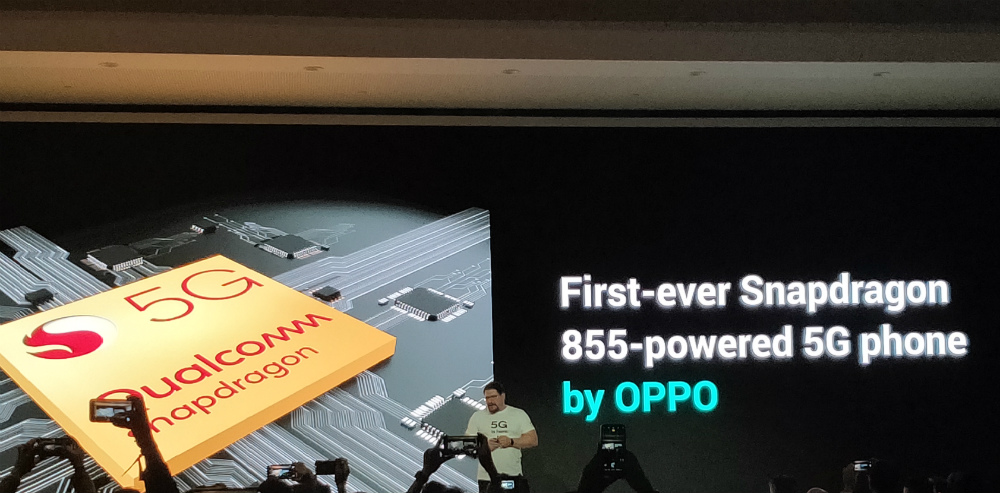 QUALCOMM. Cristiano Amon, president of Qualcomm, announces that OPPO's 5G phone is the first-ever 5G phone powered by their chip Snapdragon 855. Photo by Gelo Gonzales/Rappler
