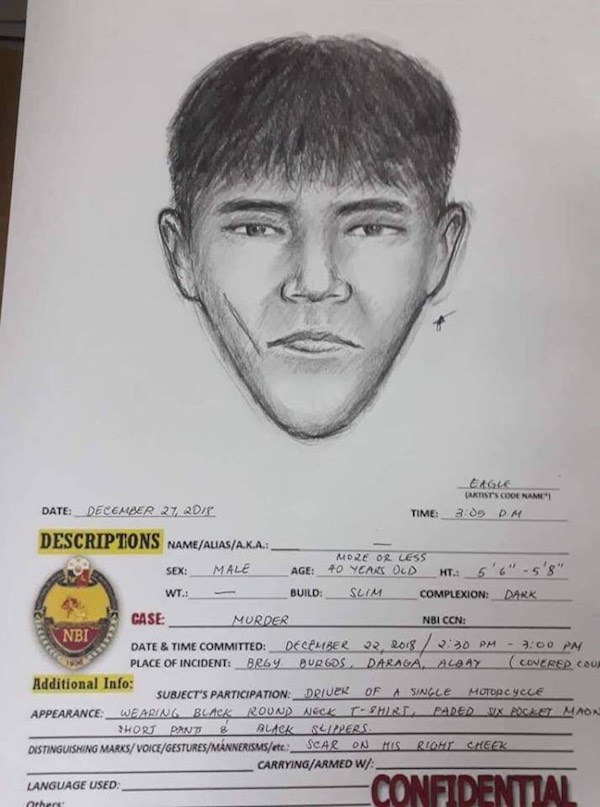 DISTINGUISHING MARK. This suspect has a scar on his right cheek. Photo from Bicol police