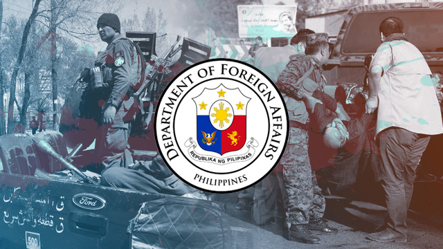 SOLIDARITY. The Philippine Department of Foreign Affairs condemns the latest terror attack inside an education center in Kabul, Afghanistan on Wednesday, August 15. Photo from AFP