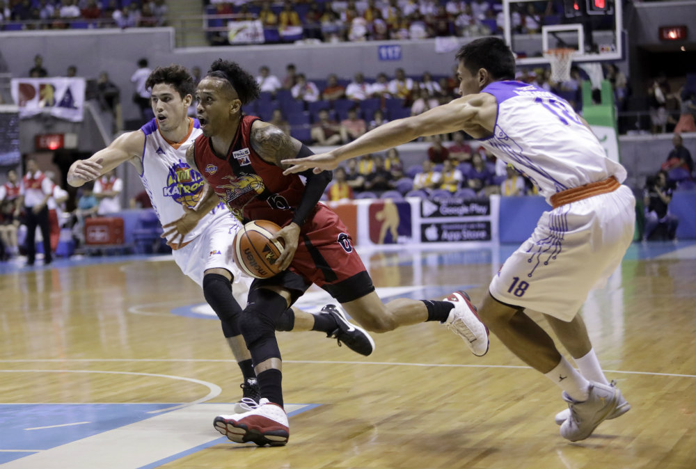 BEST PLAYER. The Beermen's ace playmaker Chris Ross has grown into a vaunted two-way player since last season, leading his team to 4 titles in the last couple of years. Photo by PBA Images