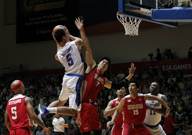 NU standout Troy Rosario scored 11 points and grabbed 5 rebounds in the gold medal match. Photo by Singapore SEA Games Organising Committee/Action Images via Reuters