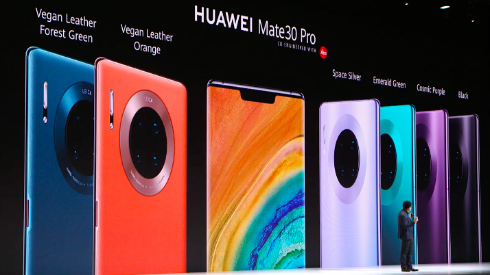 CHOICES. The Mate 30 Pro's colors and material choices are shown at the Mate 30 event, Thursday, September 19. Screenshot from Huawei/YouTube