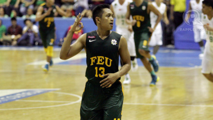 Mike Tolomia is averaging 17.0 PPG, 3.8 RPG, and 3.8 APG in Season 77 to lead the Tamaraws. Photo by Josh Albelda