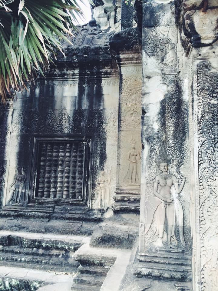 Inside Angkor Wat. Photo by Patty Pasion/Rappler