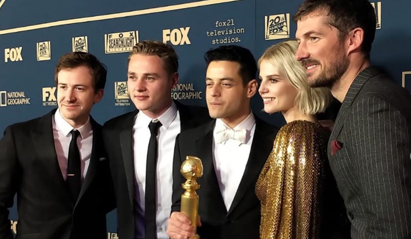 TWO GLOBES. Bohemian Rhapsody bagged two prestigious awards at this year's Golden Globes, one for best drama and Rami Malek for best actor. Photo from Joe Mazzello's Instagram account