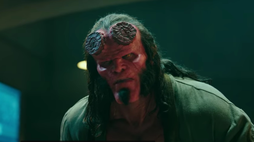 HELLBOY REMAKE. Hellboy will be terrorizing movie screens again in April 2019. Screenshot from Lionsgate Movies