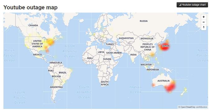 Youtube Suffers Outage In U S Japan Australia