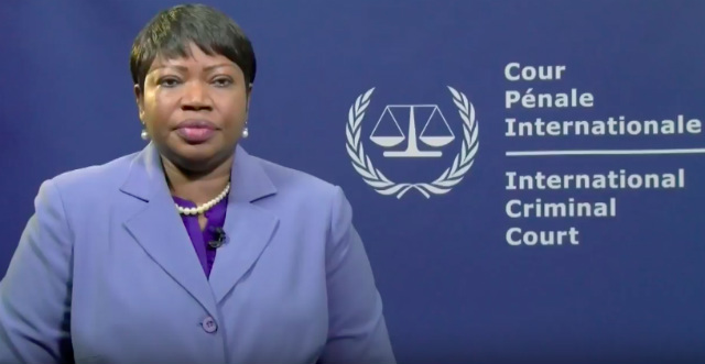 CLOSELY MONITORING. ICC Prosecutor Fatou Bensouda confirms that the international court has opened a preliminary examination into Duterte's war on drugs. Screenshot from Youtube video