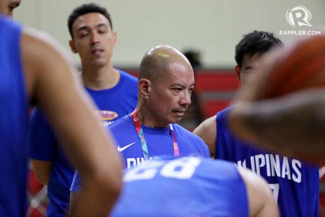 FIERY MENTOR. Yeng Guiao officially takes over as Gilas head coach after serving as an interim head coach in the Asian Games and FIBA World Cup Asian Qualifiers 4th window. Photo by Adrian Portugal/Rappler
