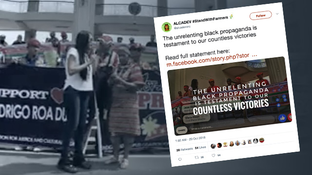 u2018BLACK PROPAGANDAu2019. Student and human rights groups slam ex-communications assistant secretaryu00a0Mocha Uson for red-tagging groups working to protect the welfare of indigenous peoples.