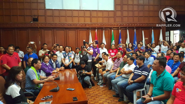 MEETING DUTERTE. Ilocos Norte local government officials and sector representatives meet Duterte
