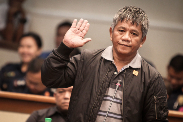 SELF-CONFESSED HITMAN. Edgar Matobato claims to be a former member of the Davao Death Squad. File photo by Joseph Vidal/PRIB